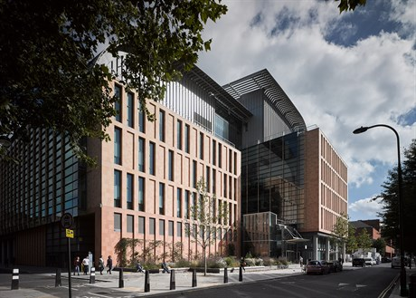 Francis Crick Institute exterior from Midland