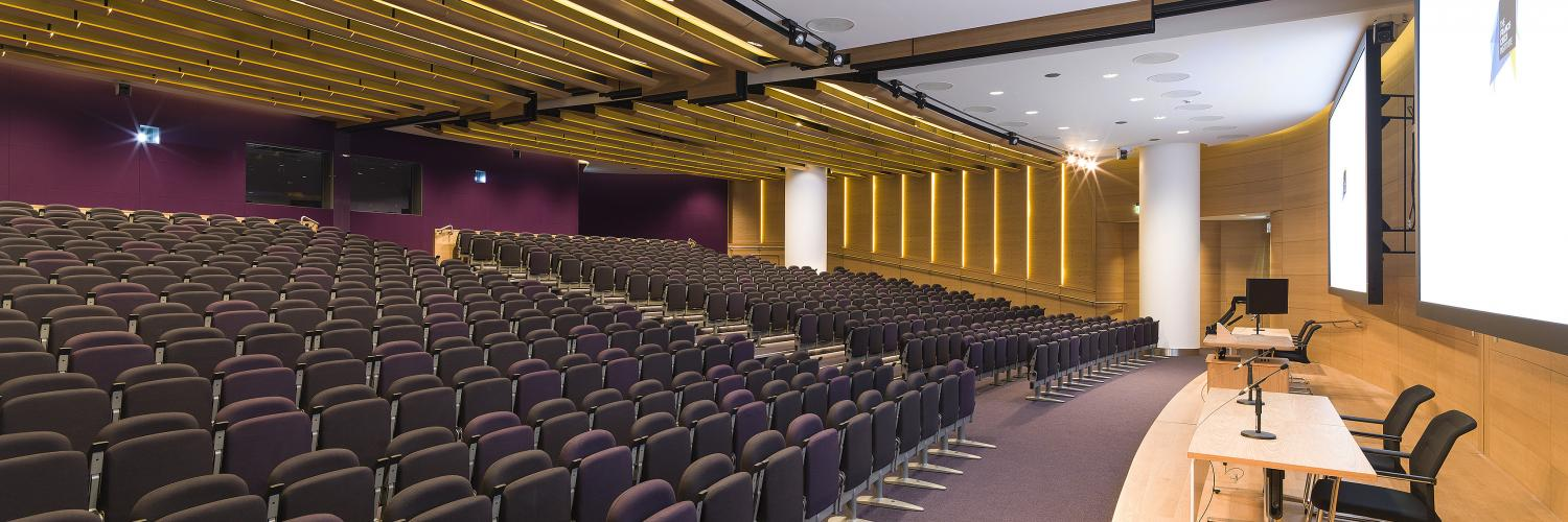 The lecture theater at the Crick.