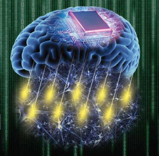 Figurative illustration of a brain-computer interface