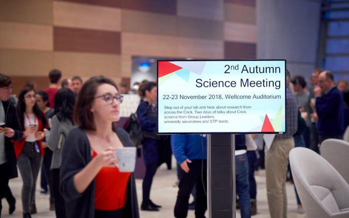 Sign advertising the Autumn Science Meeting